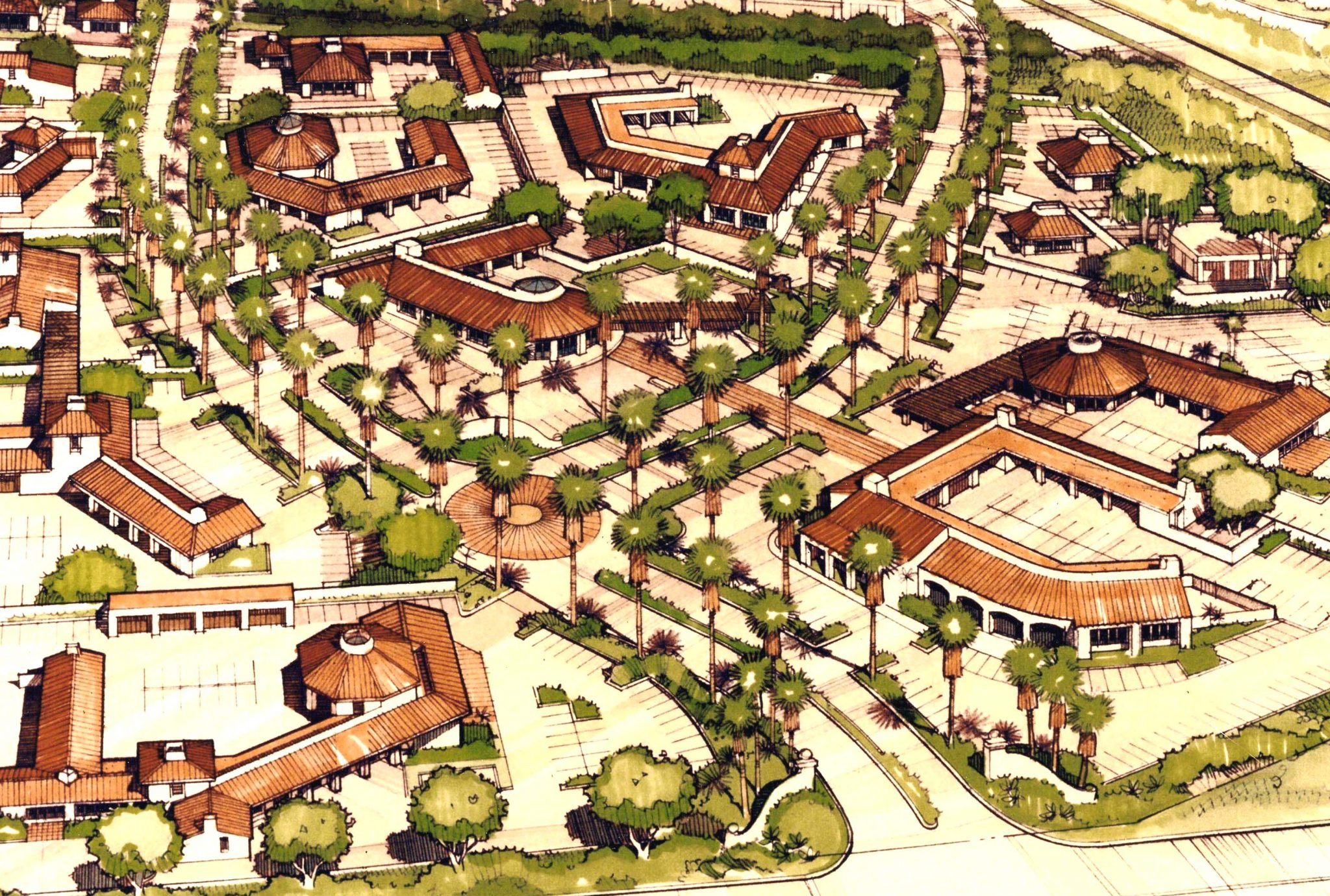 Plaza del Norte - An aerial view of the Plaza, with related fast food and commercial linkage included