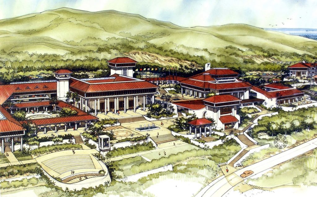 A proposal for St. Thomas, with amphitheater for performances, auditorium, galleries, studios