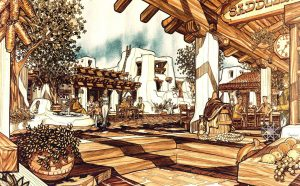 Robledo Springs New Town The Village of shops reflects Southwest traditions, textures, and humanism